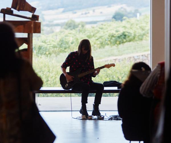 Rosie Westbrook performing at TarraWarra Museum of Art